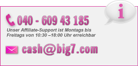 Kontakt zu Cash.Big7.com: 609 43 185